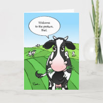 Cows Out to Pasture Funny Retirement Holiday Card