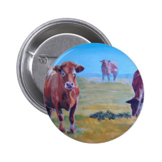 Cows painting buttons