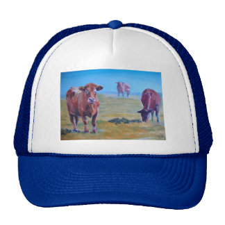 cows painting hat