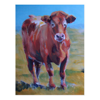 cows painting post cards