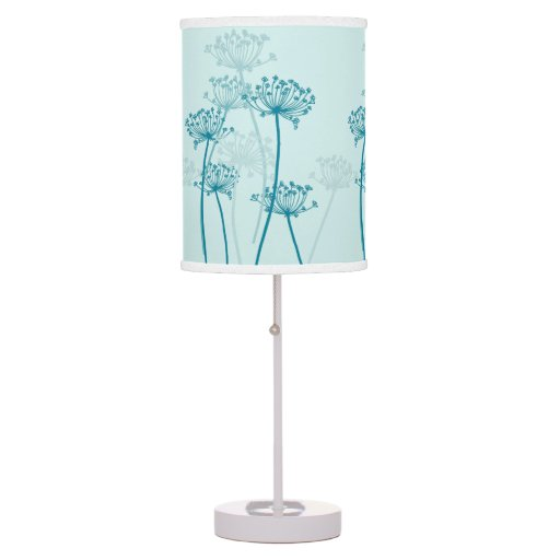 cows parsley aqua teal lamp shade zazzle. Black Bedroom Furniture Sets. Home Design Ideas