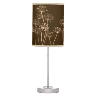 Cows Parsley beige brown beige lamp shade