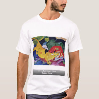Cows, Red Green Yellow By Marc Franz T-Shirt