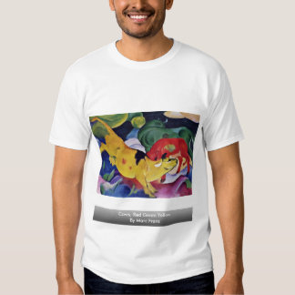 Cows, Red Green Yellow By Marc Franz Tee Shirts
