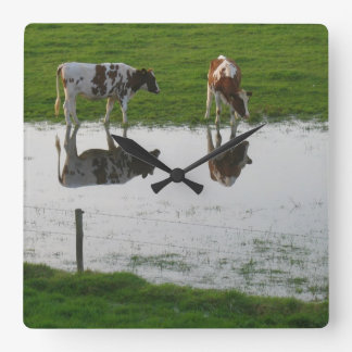 Cows Reflections Clock