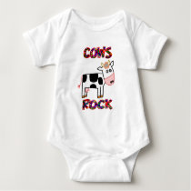 Cows Rock Baby Bodysuit