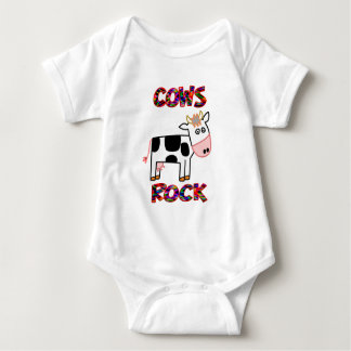 Cows Rock Baby Bodysuit