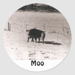 cows round stickers