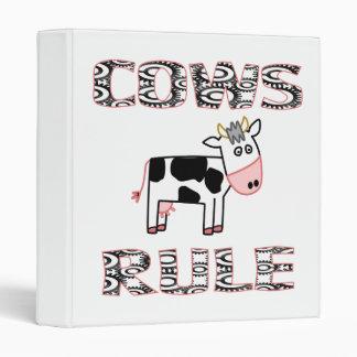COWS RULE VINYL BINDERS