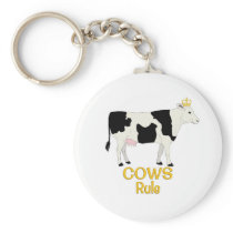 Cows Rule Golden Crown Keychain