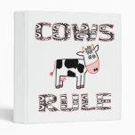 COWS RULE VINYL BINDER