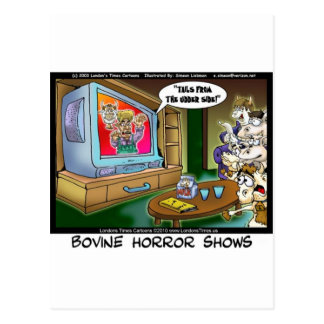 Cows Scary TV Movies Funny Tees Mugs Gifts Etc Postcard
