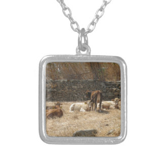 Cows Silver Plated Necklace
