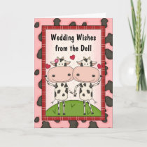 Cows Sing Popular Wedding Music Card
