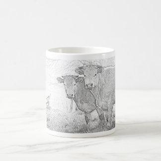 Cows sketch classic white coffee mug