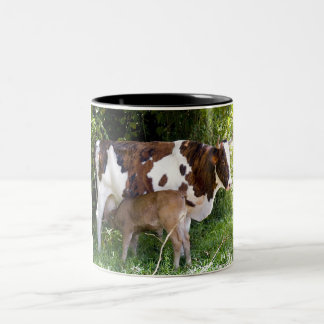 cows - the image is artistic effects Two-Tone coffee mug
