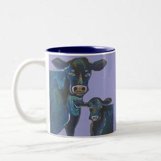 Cows Two-Tone Coffee Mug