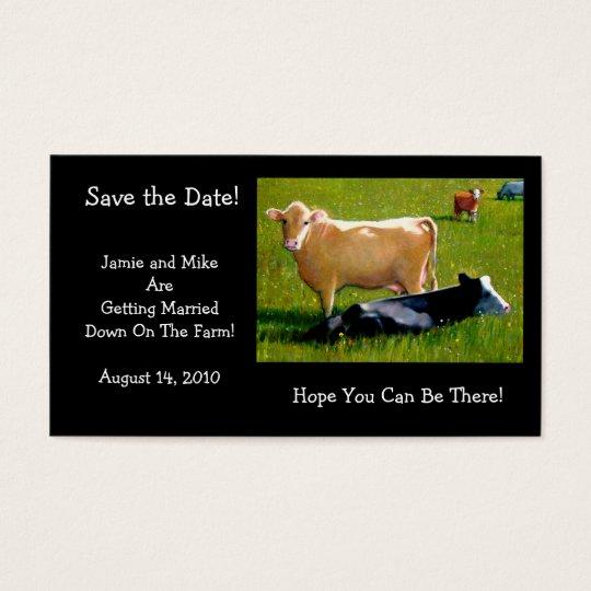 COWS: WEDDING:FARM: SAVE DATE CARD