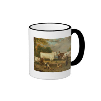 Cows with a herdsman ringer coffee mug