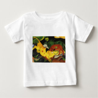 Cows, Yellow-Red-Green by Franz Marc Baby T-Shirt