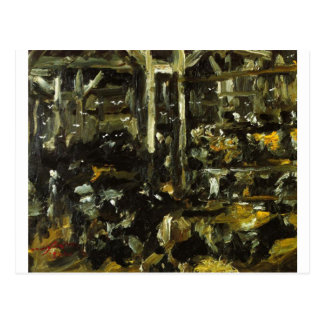 Cowshed by Lovis Corinth Postcard