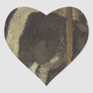 Cowshed by Paula Modersohn-Becker Heart Sticker