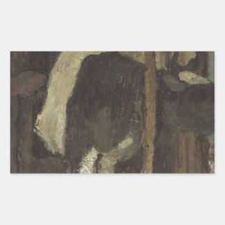 Cowshed by Paula Modersohn-Becker Rectangular Sticker