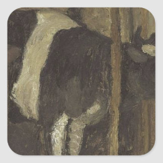Cowshed by Paula Modersohn-Becker Square Sticker