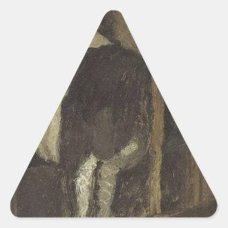 Cowshed by Paula Modersohn-Becker Triangle Sticker