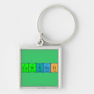 Cowshed periodic table name keyring keychain