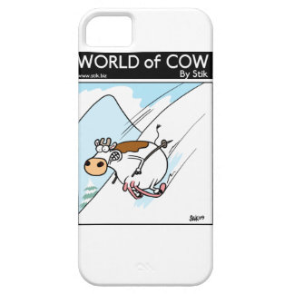 CowSkiing iPhone 5 Case-Mate Cárcasa