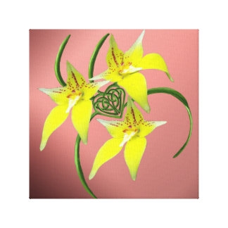 Cowslip Orchid Love Celtic Knotwork Heart Canvas
