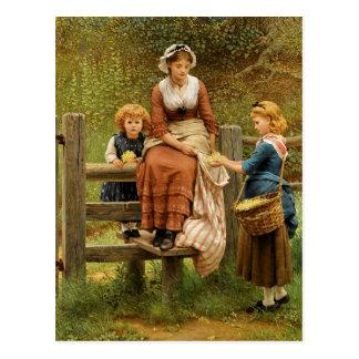Cowslips de George Dunlop Leslie Tarjetas Postales
