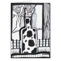 drawing,ink,drinks,nature,beverage,artsprojekt,black and white,bar,cow,farm,abstract,minimalism,original,black,white,spirit,cocktail,cordial,glass,leaves,wine,beverages,illustration,bottle,art, Card with custom graphic design