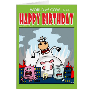 CowZilla Vs Toilet Roll Town! Card