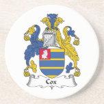 Cox Family Crest Beverage Coasters
