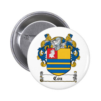 Cox Family Crest Button