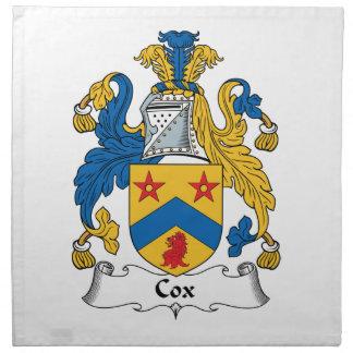 Cox Family Crest Cloth Napkin