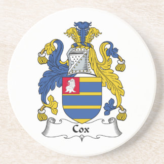 Cox Family Crest Drink Coaster