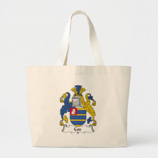 Cox Family Crest Large Tote Bag