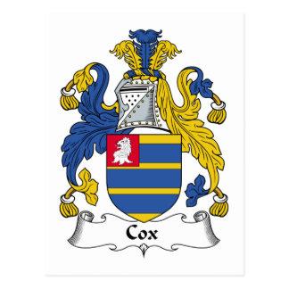 Cox Family Crest Postcard