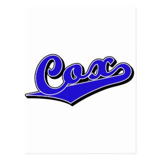 Cox in Blue Postcard