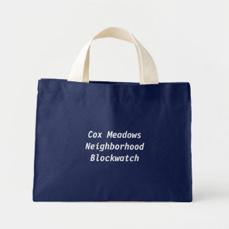 Cox Meadows Neighborhood Blockwatch Mini Tote Bag