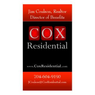 $cox residencial tarjetas de negocios