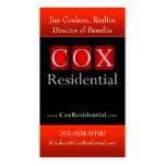 Cox Residential Double-Sided Standard Business Cards (Pack Of 100)