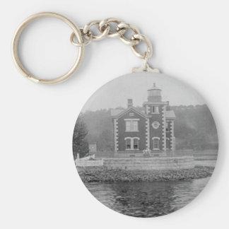Coxsackie Lighthouse Basic Round Button Keychain