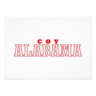 Coy, Alabama City Design Personalized Invitation