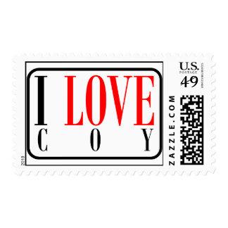 Coy, Alabama City Design Postage Stamp