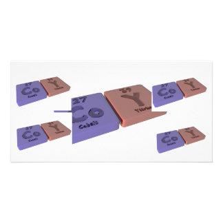 Coy as Cobalt Co and Yttrium Y Photo Card