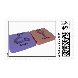 Coy as Cobalt Co and Yttrium Y Stamps